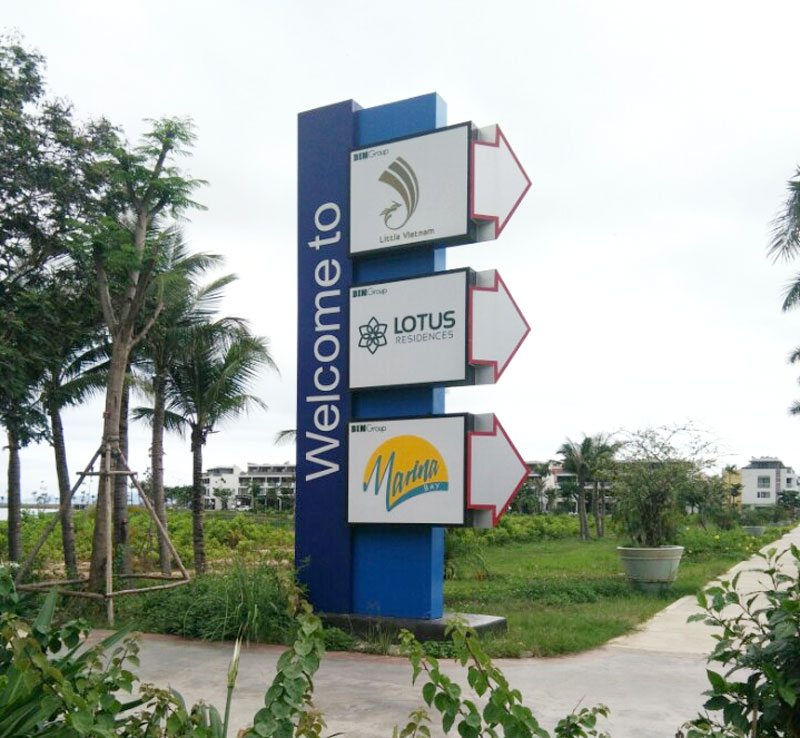 biển chỉ dẫn Quảng Ninh