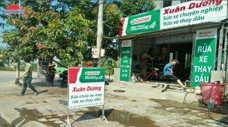 Thi công biển hiệu đại lý dầu nhớt Castrol tại Quảng Ninh