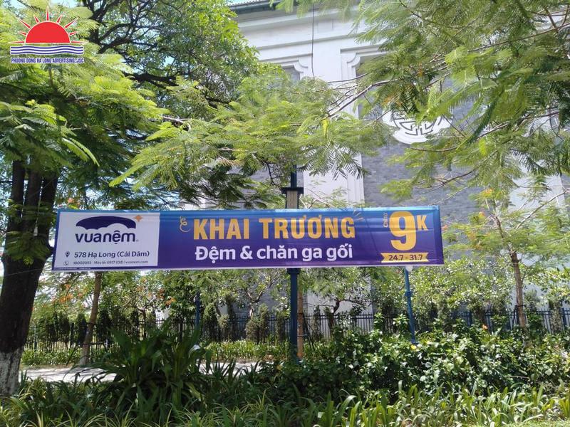 Treo băng rôn banner quảng cáo trọn gói tại Quảng Ninh