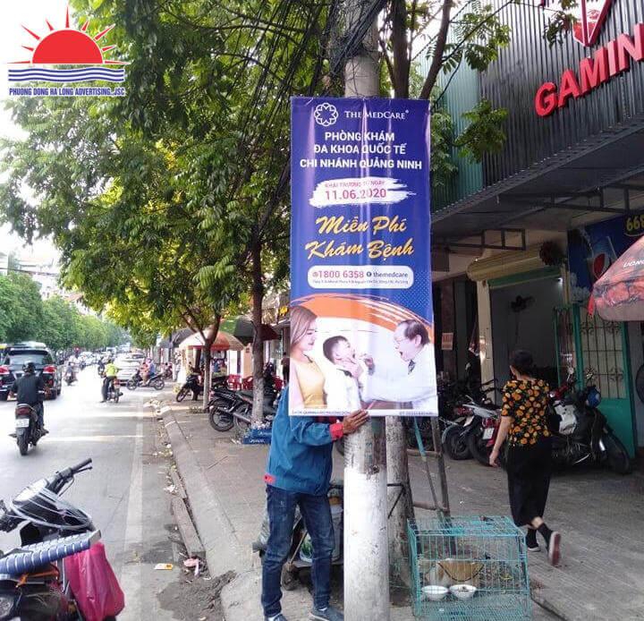 Treo banner khai trương phòng khám tại Hạ Long, Quảng Ninh
