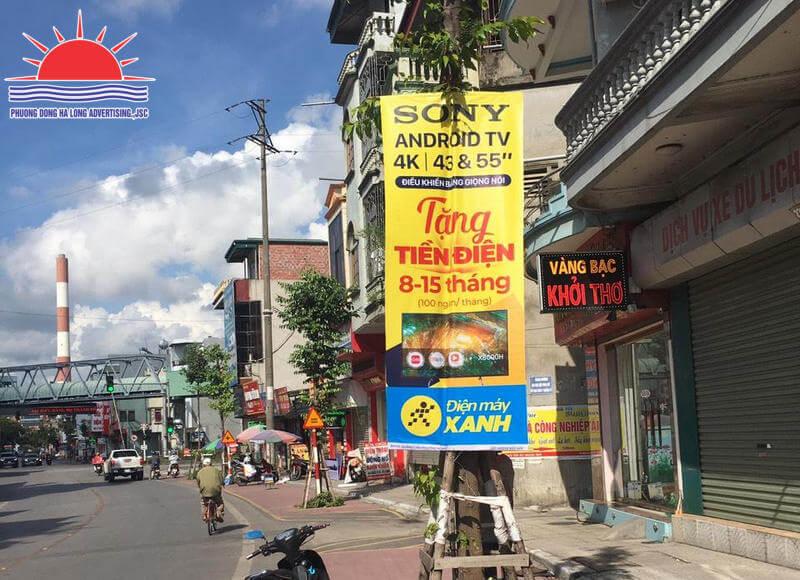 Treo banner Điện máy xanh tại Hạ Long, Quảng Ninh
