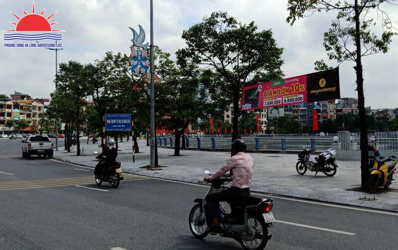 Treo băng rôn thế giới di động tại Hạ Long, Quảng Ninh