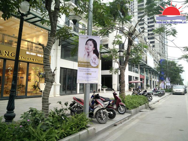 Treo banner khai trương spa tại Hạ Long