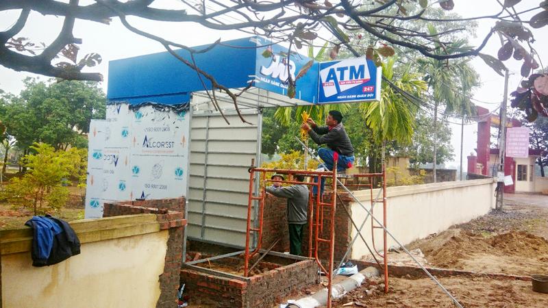 Thiết kế và thi công cây rút tiền ATM MBBank tại Đông Triều - Quảng Ninh