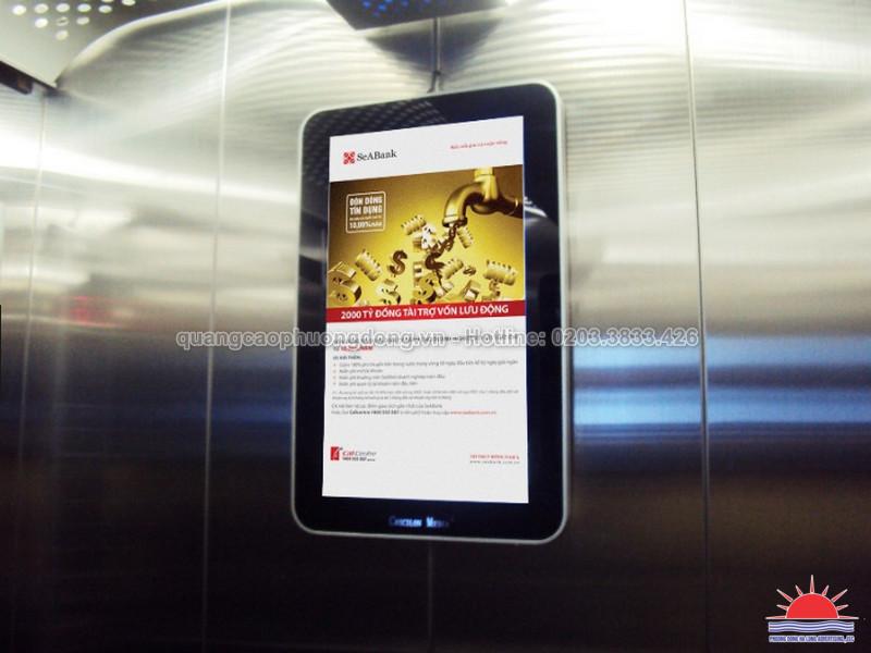 Hộp đèn quảng cáo siêu mỏng đặt trong thang máy