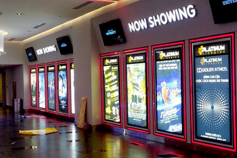 Hộp đèn siêu mỏng làm biển hiệu Poster rạp chiếu phim