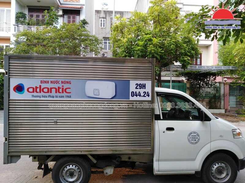 Dán quảng cáo trên xe tải - decal xe tại Quảng Ninh