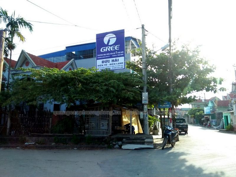 Làm biển quảng cáo đại lý phân phối điều hòa Gree tại Quảng Ninh