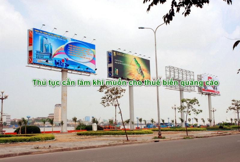 Thủ tục cần làm khi muốn cho thuê biển quảng cáo