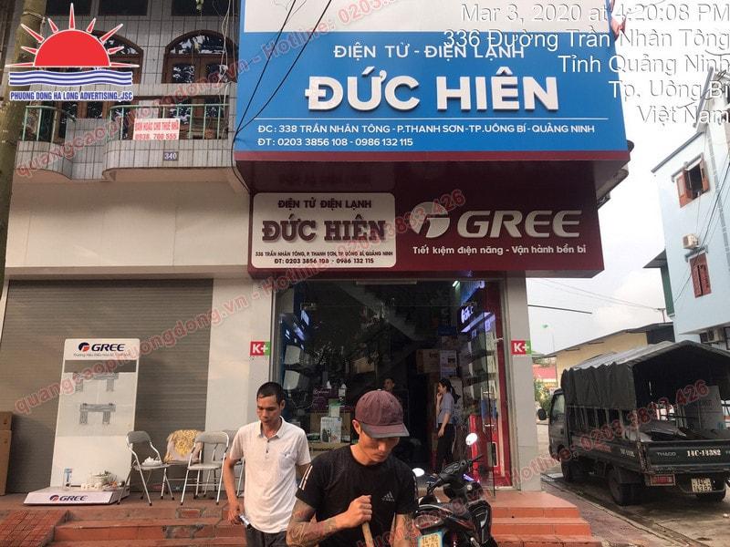 mẫu biển quảng cáo tại Uông Bí đẹp