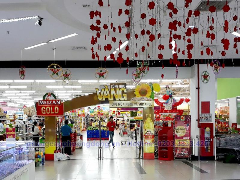 Thi công cổng chào dầu Meizan Gold tại Big C Bắc Giang