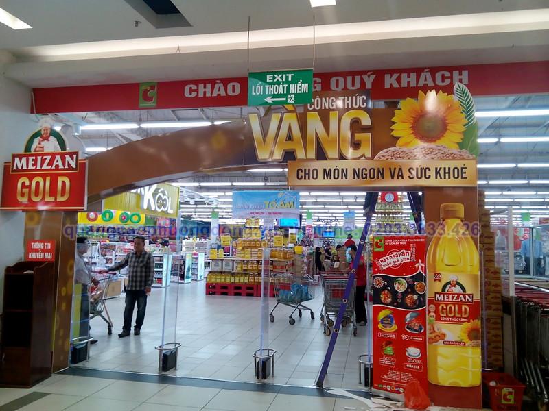 Thi công cổng chào dầu Meizan Gold tại Big C Hải Phòng