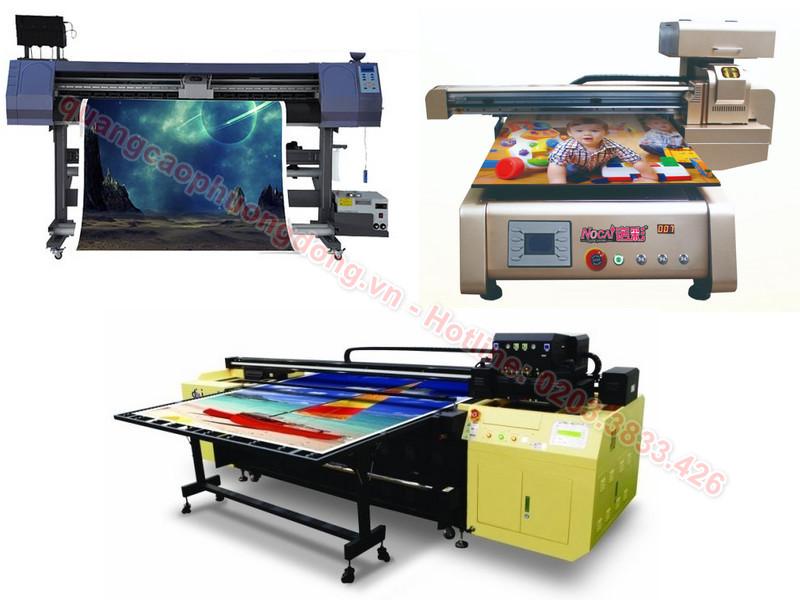 Các loại máy in UV hiện có trên thị trường