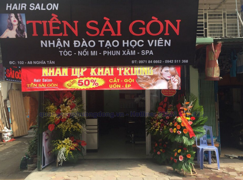 Địa chỉ làm biển quảng cáo cửa hàng tóc ở Hạ Long, Quảng Ninh