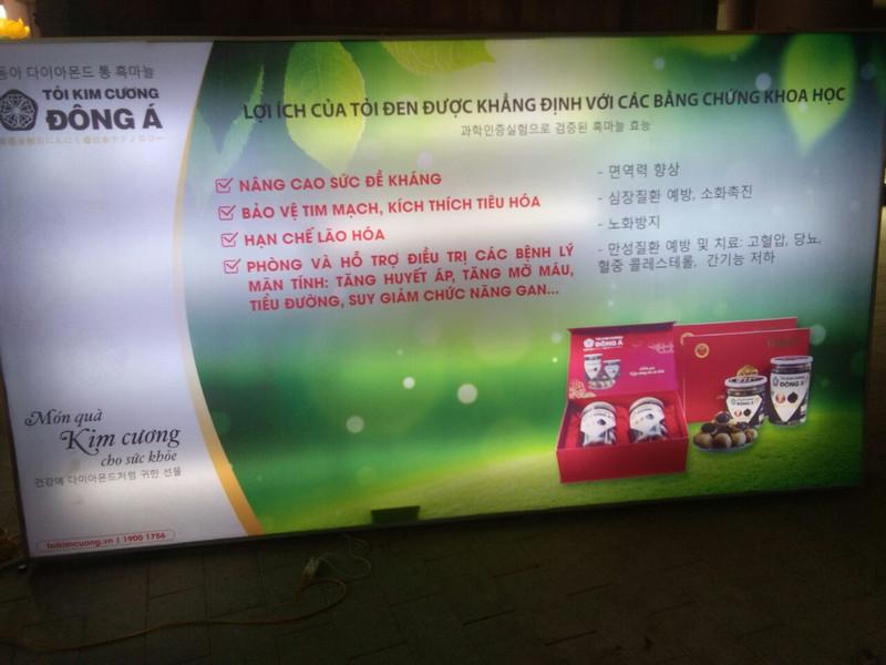 Hộp đèn quảng cáo tại chùa Yên Tử, Quảng Ninh