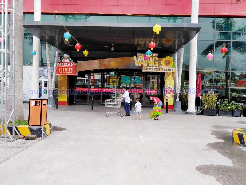 Thi công cổng chào dầu Meizan Gold tại Big C Hạ Long