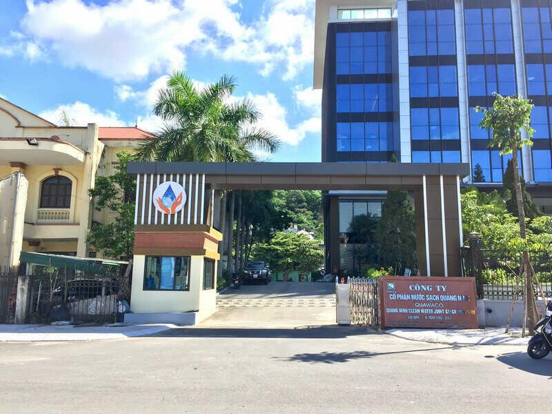 Thi công cổng công ty cổ phần nước sạch Quảng Ninh Quawaco