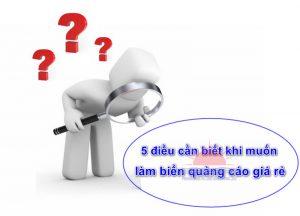 5 điều cần biết khi muốn làm biển quảng cáo giá rẻ tại Quảng Ninh