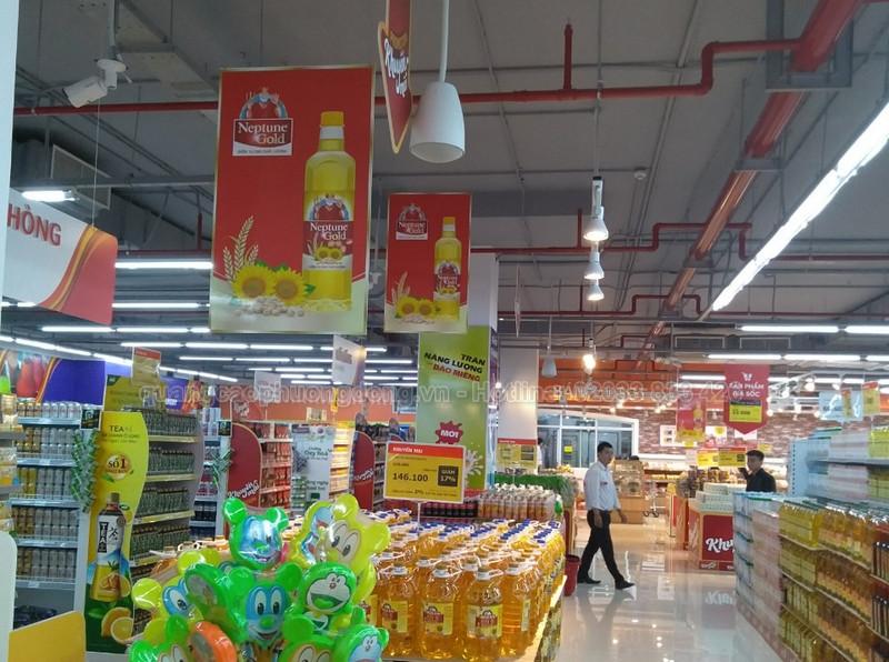 banner thả trần tại siêu thị big C