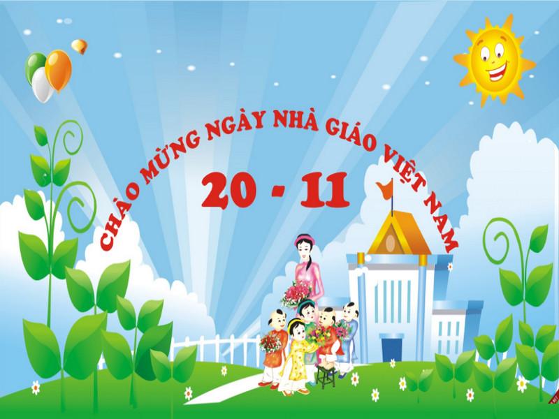 in phông sân khấu ngày nhà giáo Việt Nam 20/11 tại Quảng Ninh