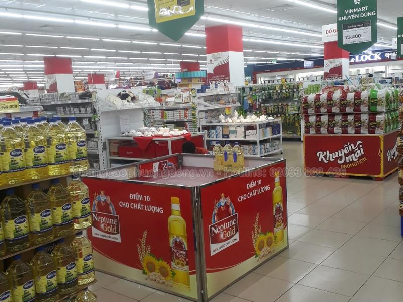 kệ trưng bày sản phẩm trong siêu thị vinmart tại Quảng Ninh