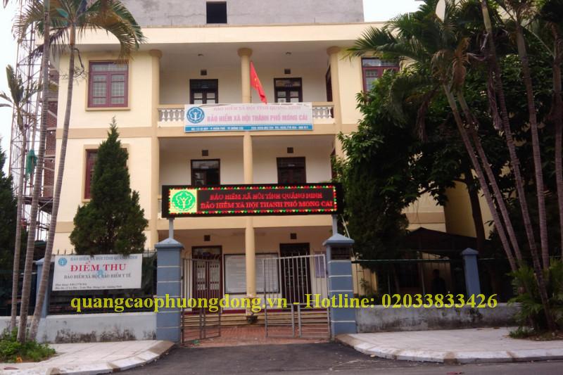 Thi công biển Led cho Bảo hiểm xã hội tại các thành phố Móng Cái