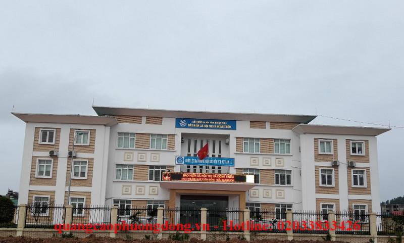 Thi công biển Led cho Bảo hiểm xã hội tại các huyện Đông Triều