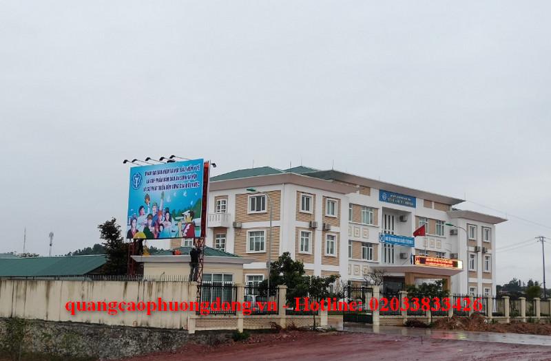 Thiết kế và thi công làm Pano tuyên truyền và biển Led bảo hiểm xã hội tại Quảng Ninh