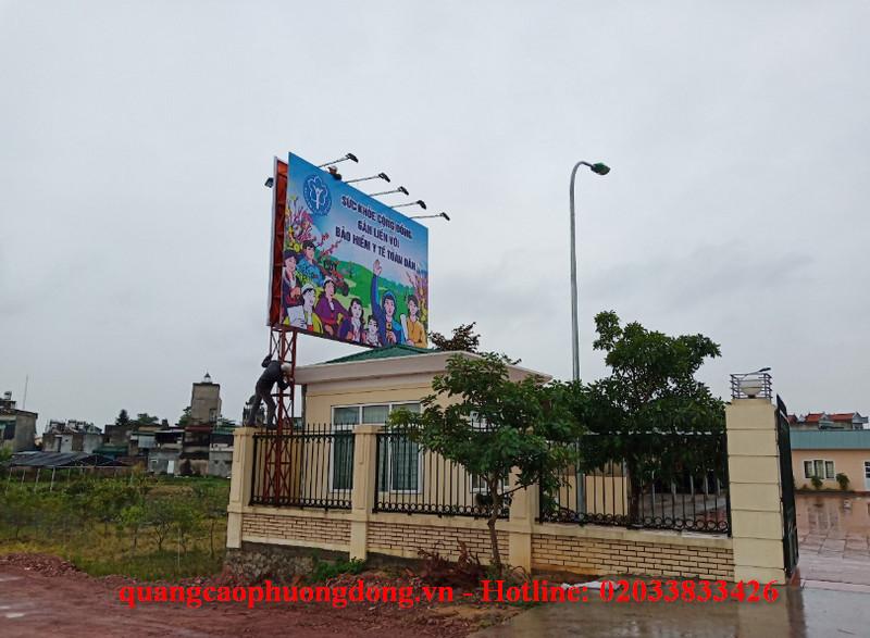 Thiết kế và thi công làm Pano tuyên truyền bảo hiểm xã hội tại Quảng Ninh
