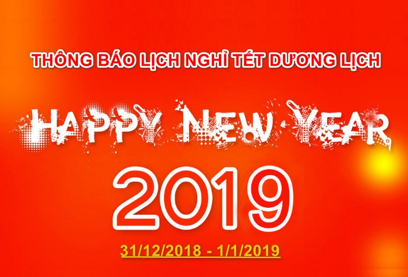 Thông báo lịch nghỉ tết dương lịch của quảng cáo Phương Đông Hạ Long