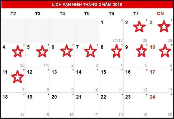 thông báo lịch nghỉ tết nguyên đán 2019 Quảng cáo phương đông