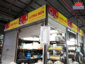 Thi công biển hiệu dầu ăn Neptune Gold tại Chợ Hạ Long I Quảng Ninh