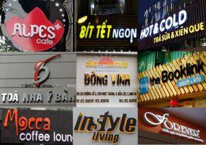 Chọn font chữ làm biển quảng cáo như thế nào