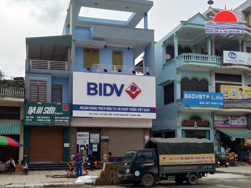 Thi công biển quảng cáo ngân hàng BIDV tại Quảng Ninh