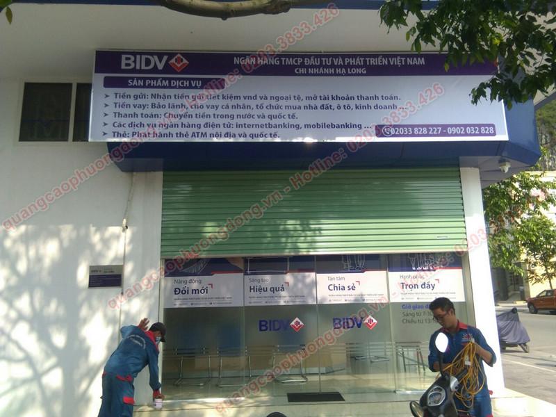 biển hộp đèn phòng giao dịch ngân hàng BIDV