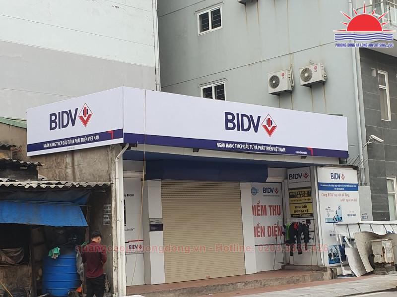 Thi công biển quảng cáo ngân hàng BIDV Vườn Đào