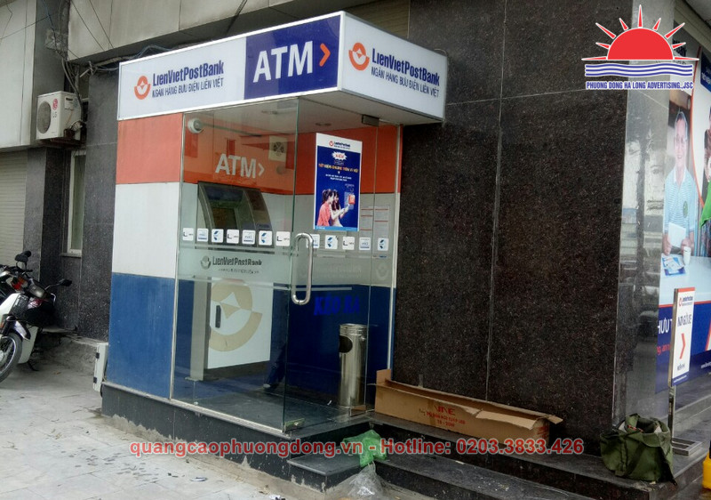 Thi công cây ATM LienVietPostBank trên đường Trần Hưng Đạo tại Quảng Ninh