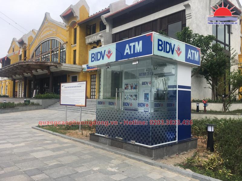thi công Booth ATM BIDV