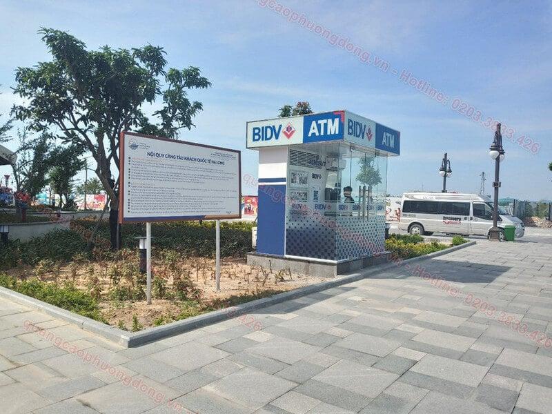 Thi công cây rút tiền ATM BIDV tại cảng tàu khách quốc tế Hạ Long