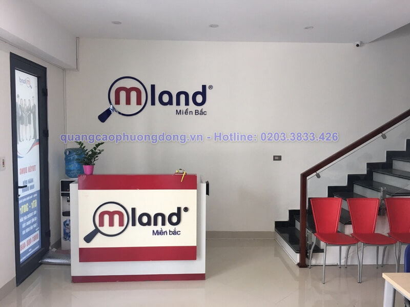 Thi công làm biển quảng cáo cho công ty bất động sản Mland tại Hạ Long