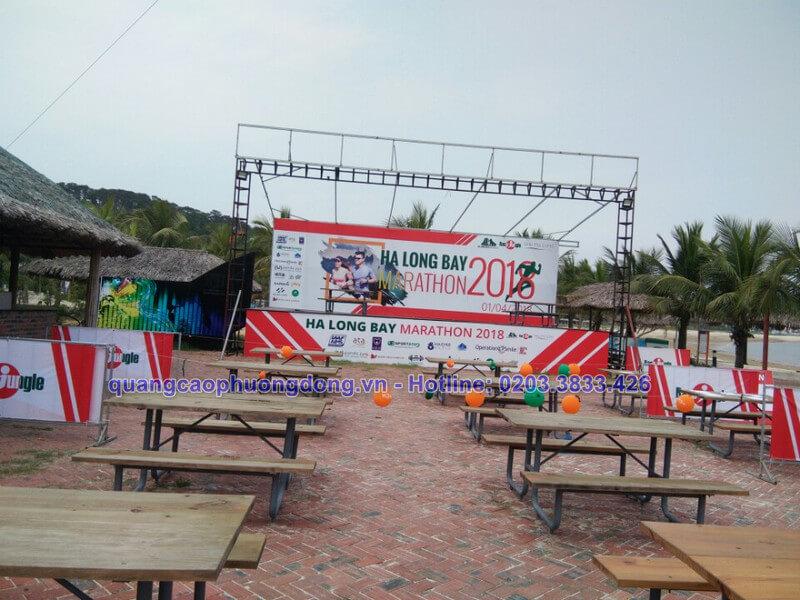Thiết kế và thi công backdrop tại giải marathon