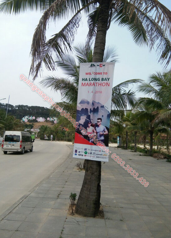 Treo banner giải marathon tại Hạ Long
