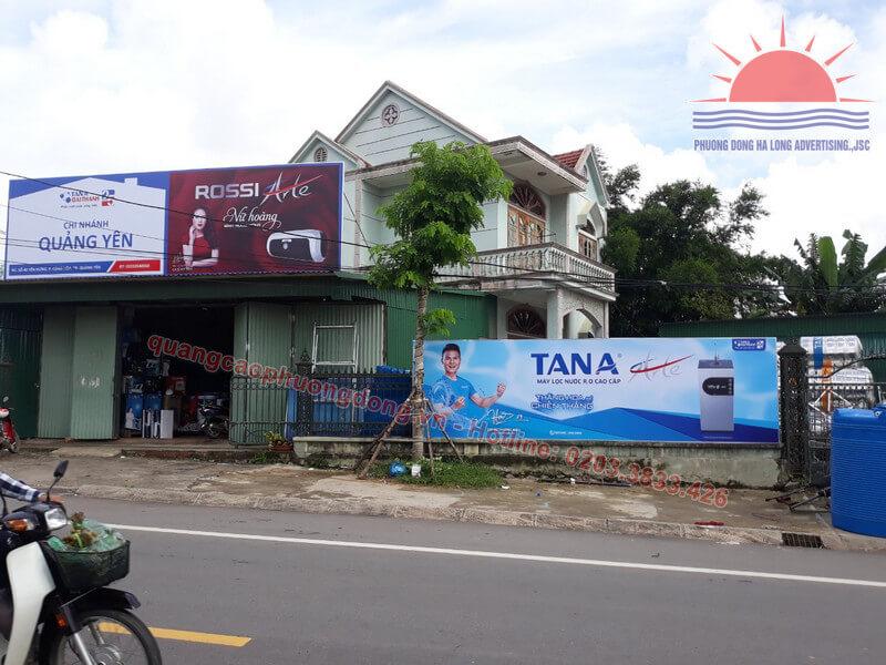 thiết kế và lắp đặt biển Tân Á Đại Thành ở thị xã Quảng Yên, Quảng Ninh