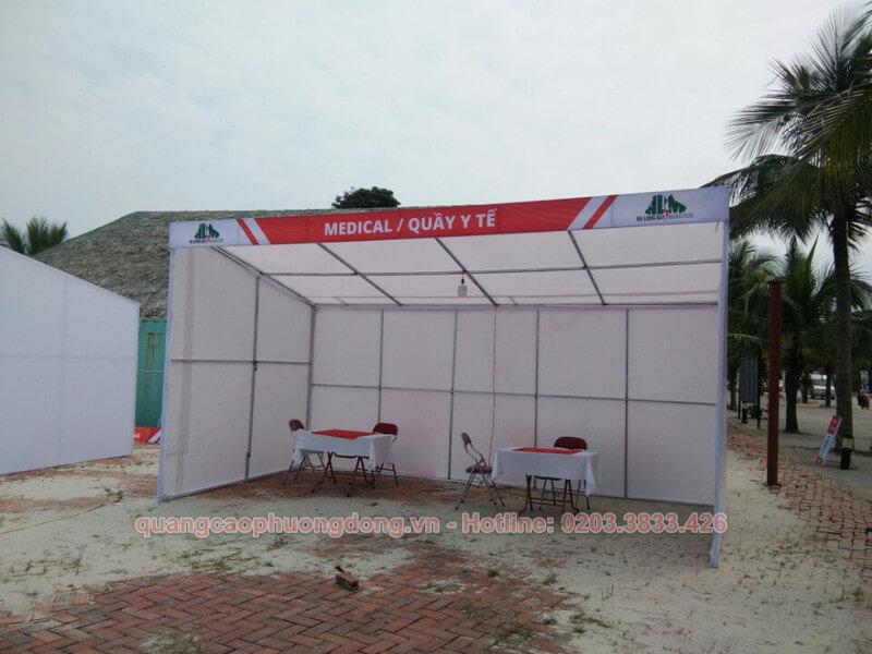 Thiết kế quầy y tế chương trình marathon tại Hạ Long