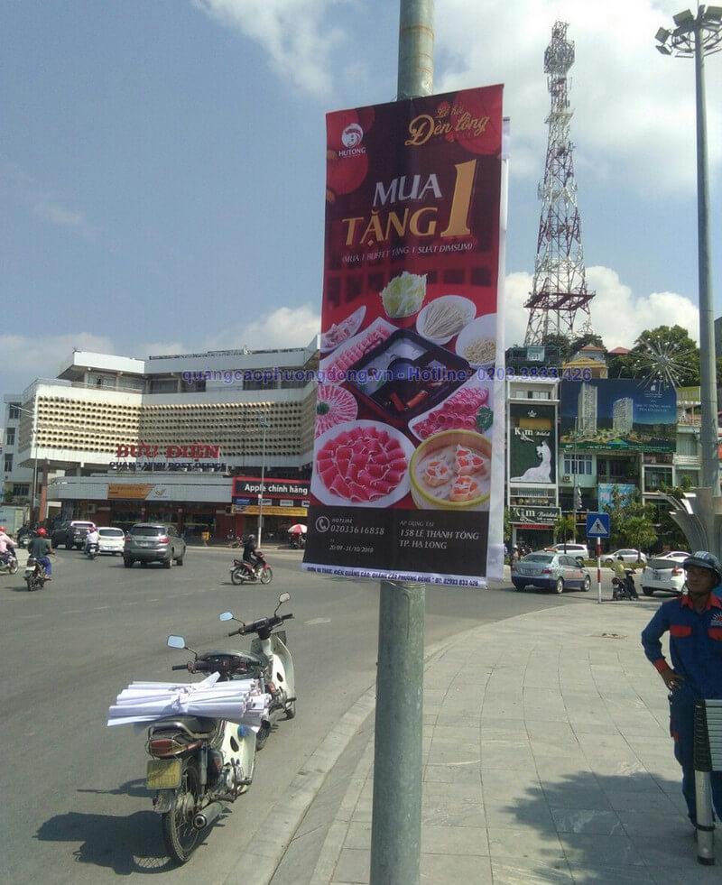 Thiết kế và in treo banner nhà hàng Hutong gần Cột Đồng Hồ