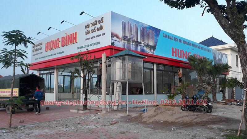 Thi công biển hiệu công ty TNHH Hưng Bình tại Hạ Long