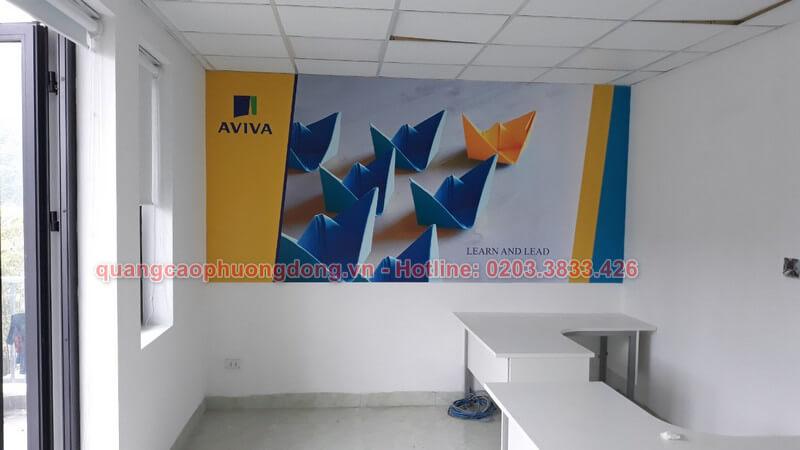Thi công tại văn phòng Aviva Việt Nam