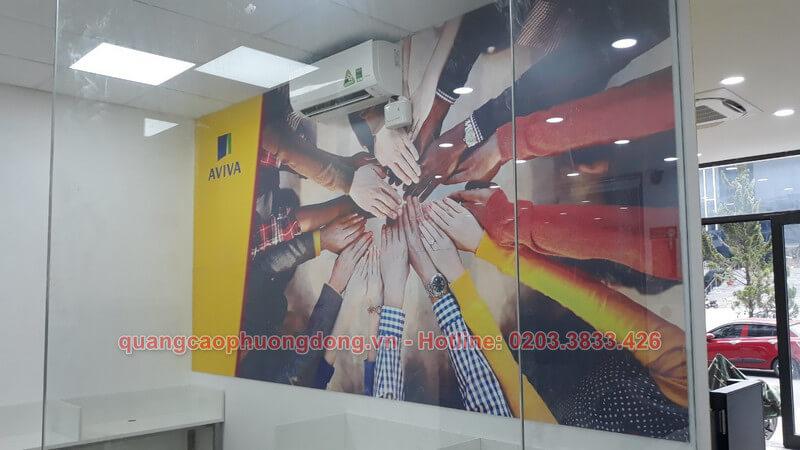 Trang trí tại văn phòng Aviva Việt Nam