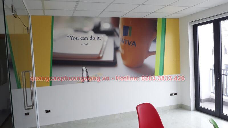 Lắp đặt và trang trí tại văn phòng Aviva Việt Nam