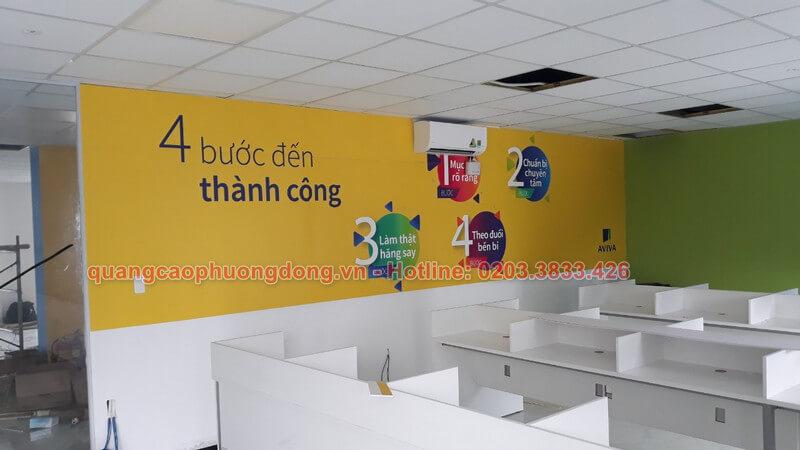 Thi công lắp đặt và trang trí văn phòng Aviva Việt Nam